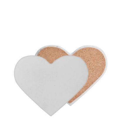 Εικόνα της COASTER (SANDSTONE+cork) HEART 9x11 gloss