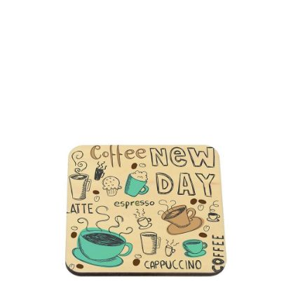 Picture of NATURAL WOOD - COASTER 9.5x9.5cm