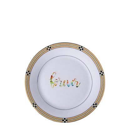 """Picture of PLATE - GOLDEN PATTERN (8"""") 20cm"""