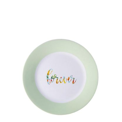 """Picture of PLATE - GREEN edge (8"""") 20cm"""