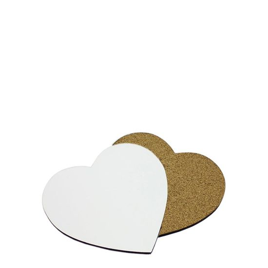 Picture of COASTER (HB) HEART 9.78x10.16 - with CORK