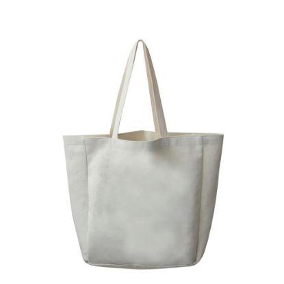 Εικόνα της BAG - SHOPPING (LINEN) side gusset 48x38x13cm