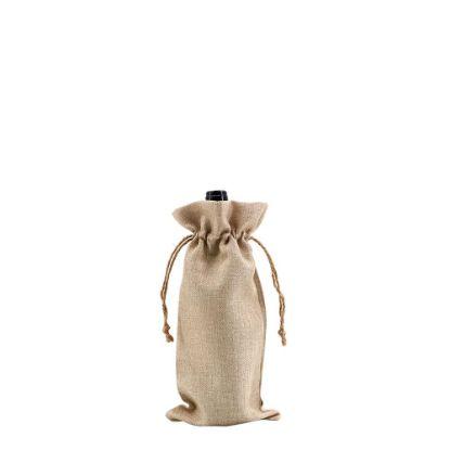 Εικόνα της BOTTLE BAG faux burlap 17x34cm