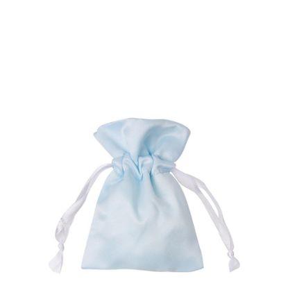 Picture of DRAWSTRING BAG satin blue light 16x23cm