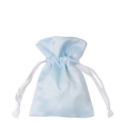 Picture of DRAWSTRING BAG satin blue light 35x38cm