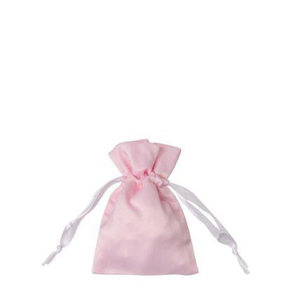 Picture of DRAWSTRING BAG satin pink 12x17cm