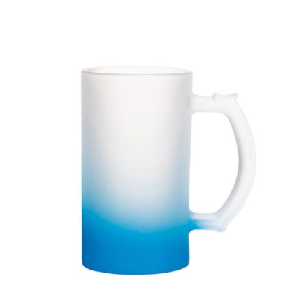 Picture of BEER GLASS (Frosted) BLUE LIGHT Gradient 16oz