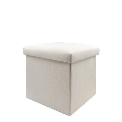 Εικόνα της FOLDABLE STORAGE STOOL (Linen) 30x30x30cm