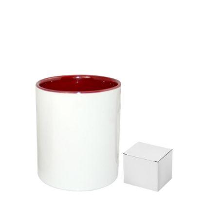 Picture of PENCIL HOLDER - CERAMIC/11oz-MAROON    (+box)