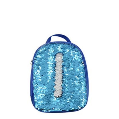Picture of KIDS LUNCH BAG sequin (BLUE) 18.9x23.7