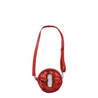 Εικόνα της ROUND BAG sequin (RED)  13x13