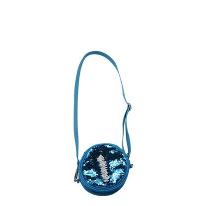 Εικόνα της ROUND BAG sequin (BLUE)  13x13