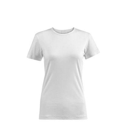 Picture of T-SHIRT POLYESTER - WHITE (XXL) women