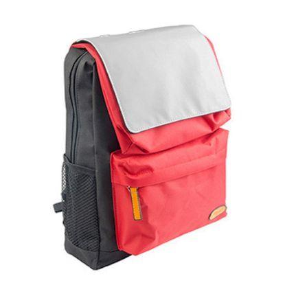 Εικόνα της KIDS SCHOOL BAG - BLACK with RED pocket