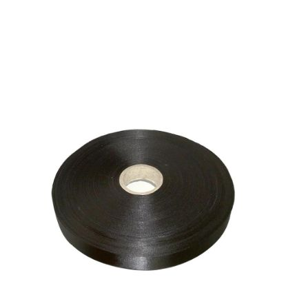 Picture of RIBBON SATIN (1side) Black 25x100m