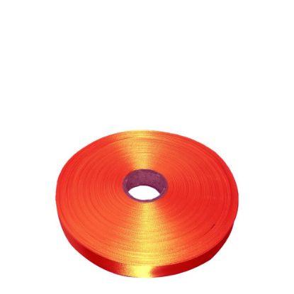 Picture of RIBBON SATIN (1side) Orange Tango 25x100m