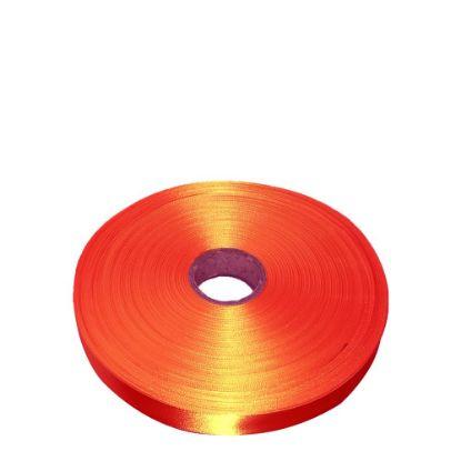 Picture of RIBBON SATIN (1side) Orange Tango 38x100m