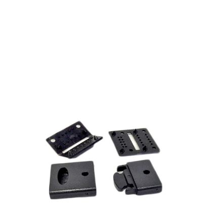 Εικόνα της RIBBON LANYARD - CLIP set (15mm Black) 50pcs
