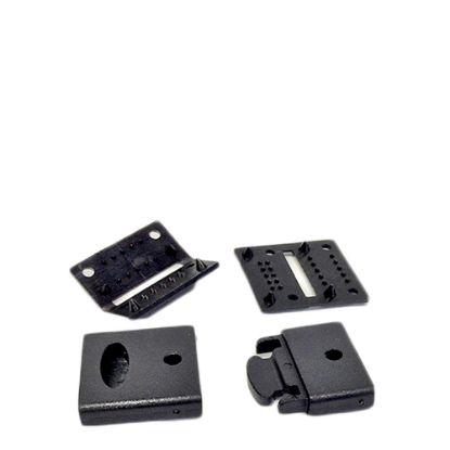 Εικόνα της RIBBON LANYARD  - CLIP set (20mm Black) 50pcs
