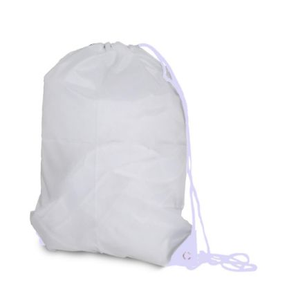 Picture of GYM BAG - 55x40x14 - Polyester/WHITE cord