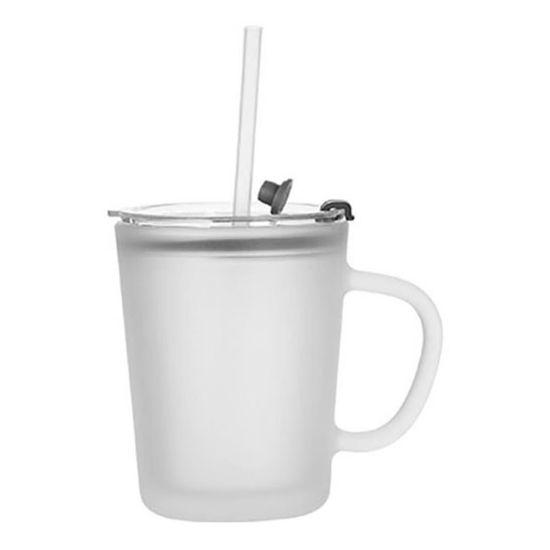 Εικόνα της Glass Mug 13oz (with Lid & Straw) Frosted