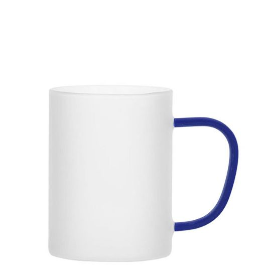 Picture of Glass Mug 12oz (Frosted) BLUE Dark handle