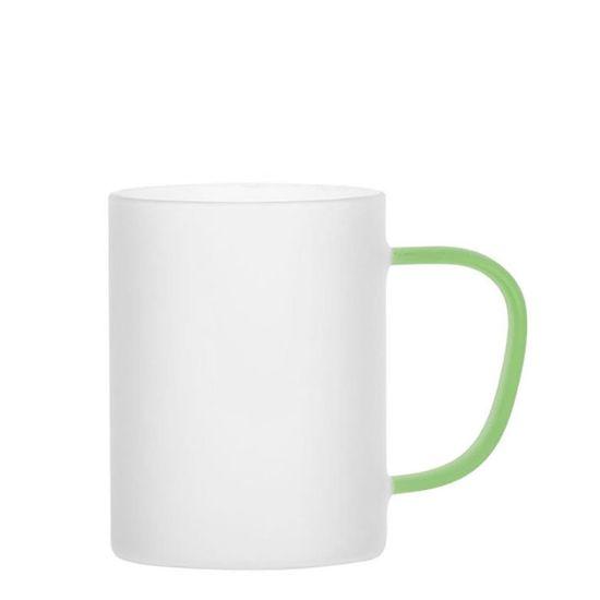 Εικόνα της Glass Mug 12oz (Frosted) GREEN Light handle