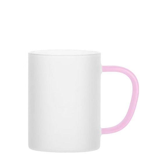 Εικόνα της Glass Mug 12oz (Frosted) PINK handle