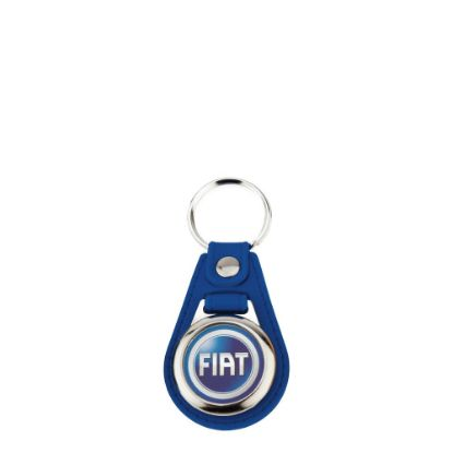 Picture of KEYRING LEATHER (BLUE) D.25mm (pack 10)