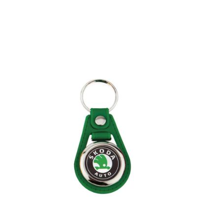 Picture of KEYRING LEATHER (GREEN) D.25mm (pack 10)