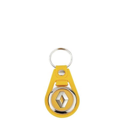 Picture of KEYRING LEATHER (YELLOW) D.25mm (pack 10)