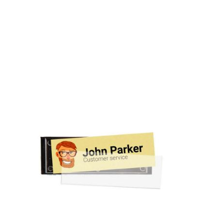 Picture of NAME BADGE bright silver 64x22mm (pack 25pcs)
