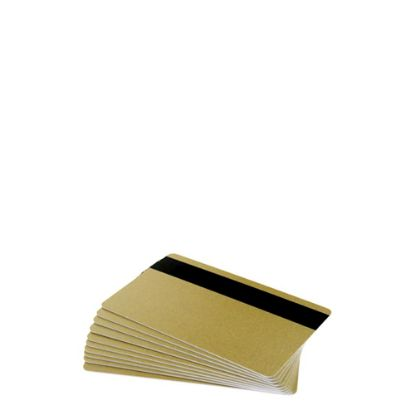 Εικόνα της PVC CARDS GOLD (MAGNETIC STRIP) 100 cards