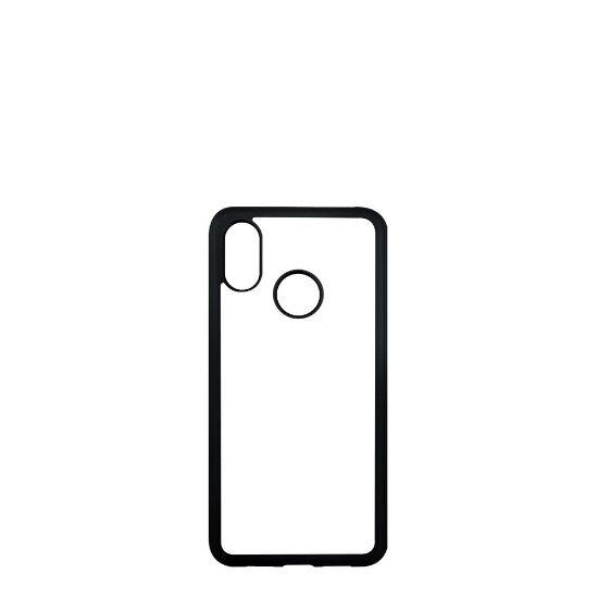 Picture of XiaoMi case (Mi 8 Lite) PC BLACK with Alum. Insert