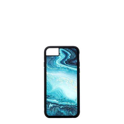 Εικόνα της APPLE case (iPHONE 6+, 6s+, 7+, 8+) TPU BLACK with TEMPERED GLASS