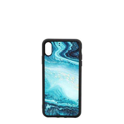 Εικόνα της APPLE case (iPHONE X, XS) TPU BLACK with TEMPERED GLASS