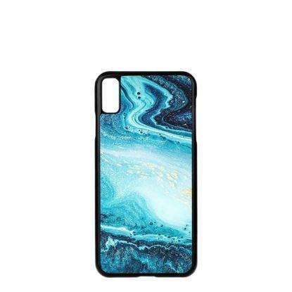 Εικόνα της APPLE case (iPHONE XS Max) TPU BLACK with TEMPERED GLASS