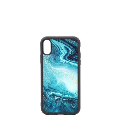 Picture of APPLE case (iPHONE XR) TPU BLACK with TEMPERED GLASS