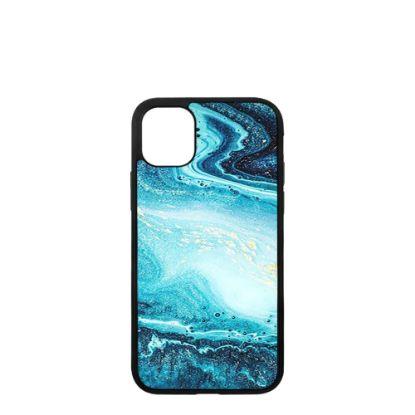 Εικόνα της APPLE case (iPHONE 11 Pro) TPU BLACK with TEMPERED GLASS