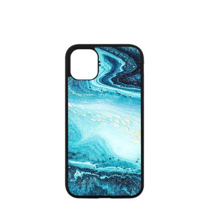 Εικόνα της APPLE case (iPHONE 11 Pro Max) TPU BLACK with TEMPERED GLASS