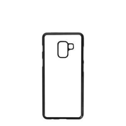 Εικόνα της GALAXY case (A8/2018, A5/2018) TPU BLACK with Alum. Insert