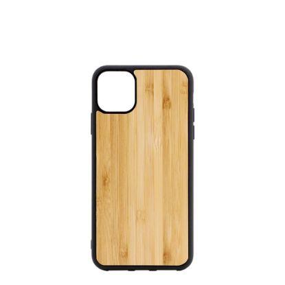 Εικόνα της APPLE case (iPHONE 11 Pro) TPU BLACK with BAMBOO