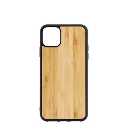 Εικόνα της APPLE case (iPHONE 11 Pro Max) TPU BLACK with BAMBOO