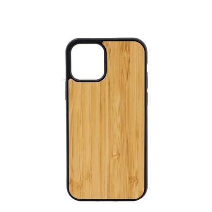 Εικόνα της APPLE case (iPHONE 12, 12 Pro) TPU BLACK with BAMBOO