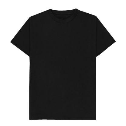 Εικόνα της T-SHIRT cotton - BLACK (4XL) unisex