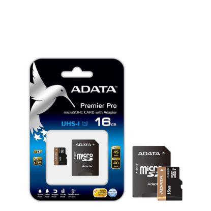 Εικόνα της microSD+SD adapter - ADATA UHS/UI (Class 10) 16GB