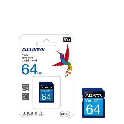 Picture of SDHC CARD - ADATA UHS-I (Class 10) 64GB