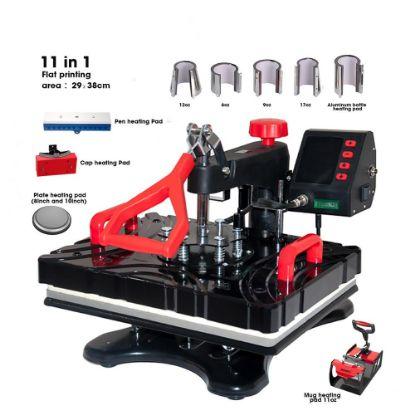 Εικόνα της Flat Heat Press 29x38cm (Swing manual) Multifunction 11 in 1