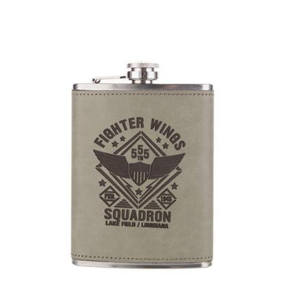 Picture of FLASK 8oz - PU Cover (Rawhide)