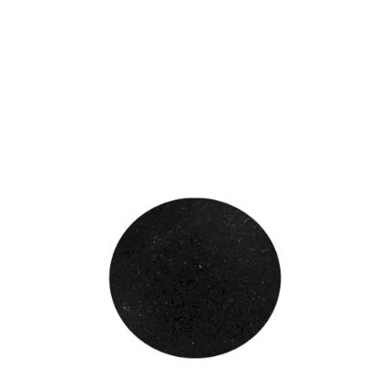 Picture of Adhesive Flannelette (Black) for Coasters - Round 9.3cm
